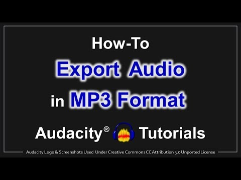 How to Export Audio in MP3 Format in Audacity