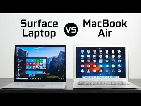 Surface Laptop vs Macbook Air
