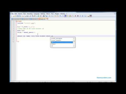 Tutorial 4:  Display data from MySQL database into HTML page using PHP (XAMPP)