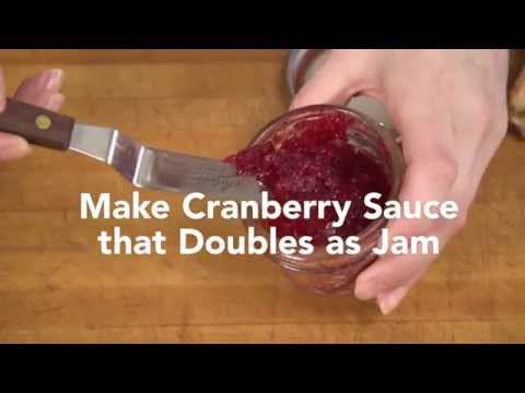 How To Make Cranberry Sauce That Doubles As Jam