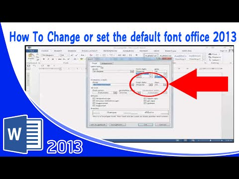 How To Change or set the default font office 2013 วิธีการตั้งค่า default font Microsoft office 2013