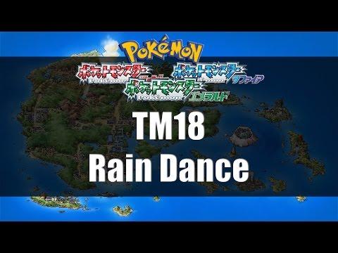 Pokemon Ruby/Sapphire/Emerald - Where to find TM18 Rain Dance