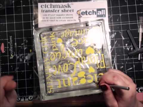Etched Glass Block Tutorial