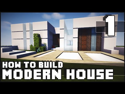 Minecraft House - How to Build : Modern House - Part 1