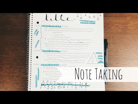 How I Take Notes | My College Note Journals Flip Through
