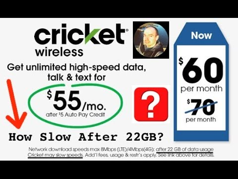 Cricket Wireless - How Slow Is The UNLIMITED DATA After 22GB Deprioritization?