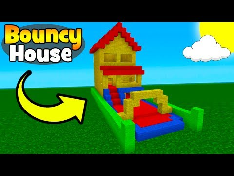 Minecraft Tutorial: How To Make A Bouncy House