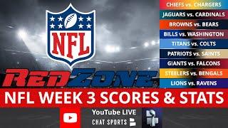 NFL RedZone Live Streaming Scoreboard | Sunday NFL Week 3 Scores, Stats, Highlights, News & Analysis