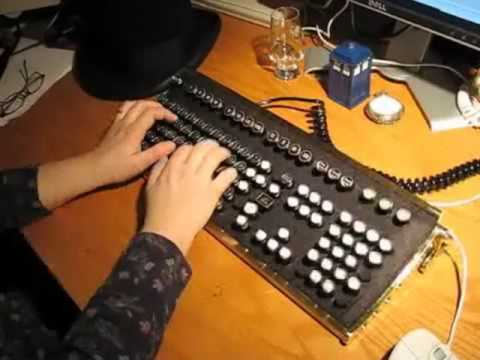 Steampunk Keyboard Touch-typing