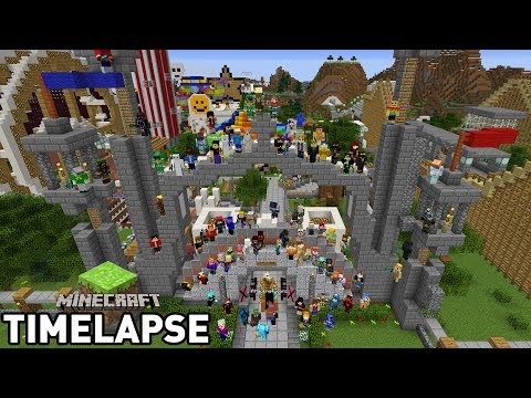 100 People Build a Themepark - Minecraft: Survival