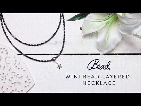 Mini Bead Layered Necklace - DIY Quick Make - Bead House