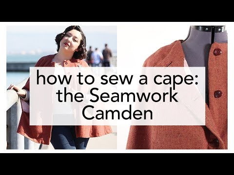 How to Sew a Cape, Seamwork Camden   Vintage on Tap