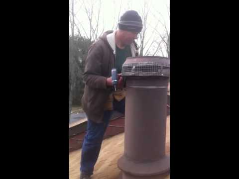 Squirrel proofing a chimney