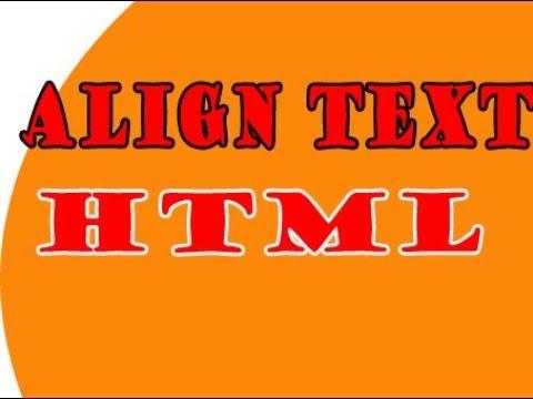 Text Alignment || Html || Text Alignment Tutorial