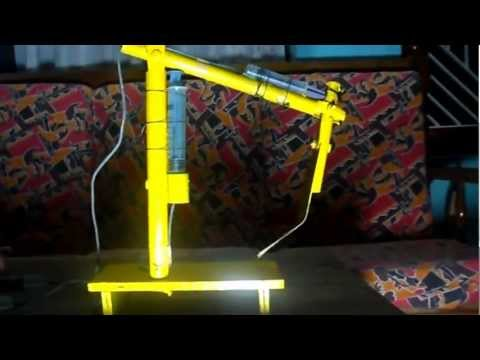 Working model for Science Exhibition -Hydraulic Arm