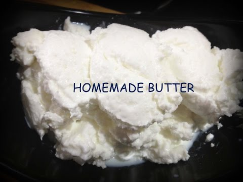 Homemade Butter in just 3 minutes-How to make butter at home