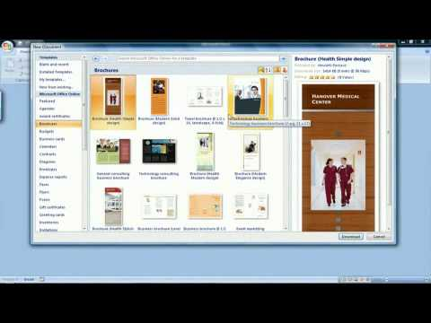 How to Create a Brochure in Microsoft Word 2007