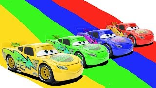 Learn Colors With Cars 3 Toys for Children, Disney Pixar Lightning McQueen Race and Friends for Kids