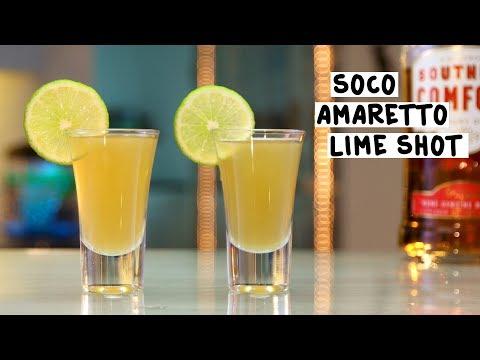 Soco Amaretto Lime Shot - Tipsy Bartender