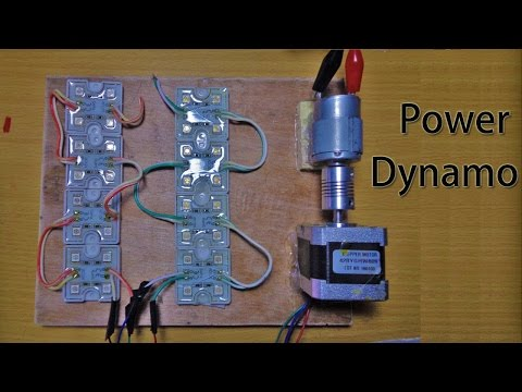 DC motor to stepper motor dynamo | How to make a easy Power Generator