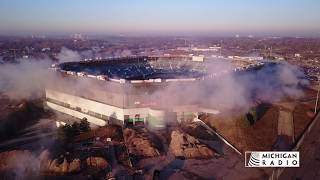 Pontiac Silverdome Implosion Failure Video