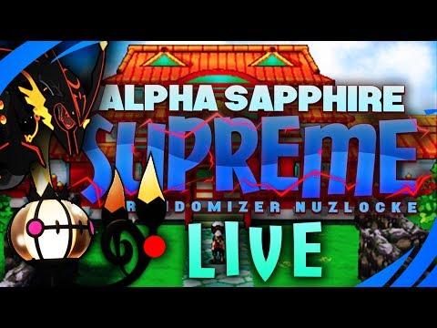 LIVE 🔴 Alpha Sapphire SUPREME Randomizer Nuzlocke! - Jason Plays Pokemon