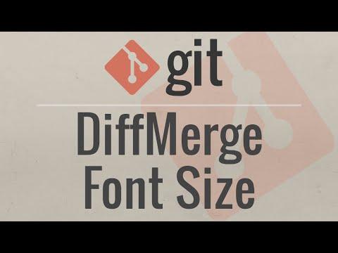 Git Tutorial: Change DiffMerge Font-Size on Mac OSX