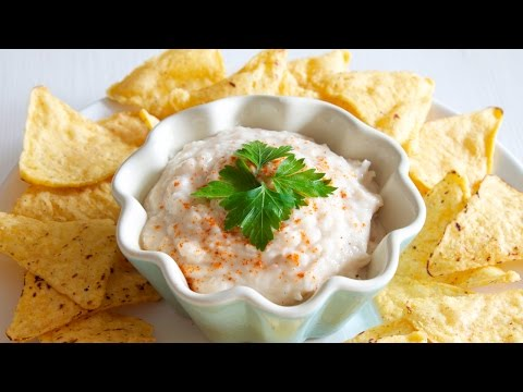 White Bean Dip Recipe with Cannellini Beans and Tortilla Chips [Recipe Diary]