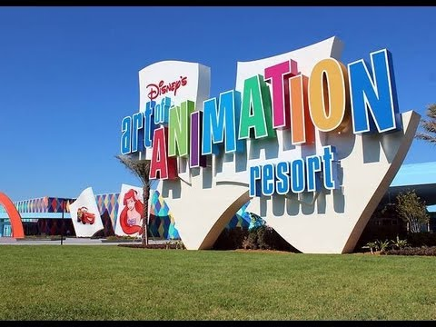 Disney's Art of Animation Resort 2013 Tour and Overview Walt Disney World HD