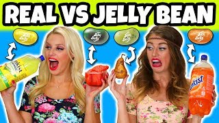 Real vs Jelly Bean. Which Tastes Better? Totally TV
