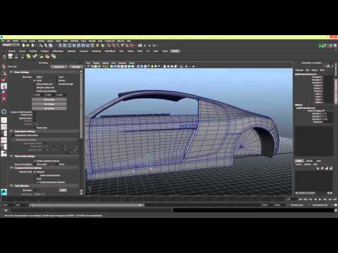 Modelling a Car in Maya Series 1 [P23] Door Lock