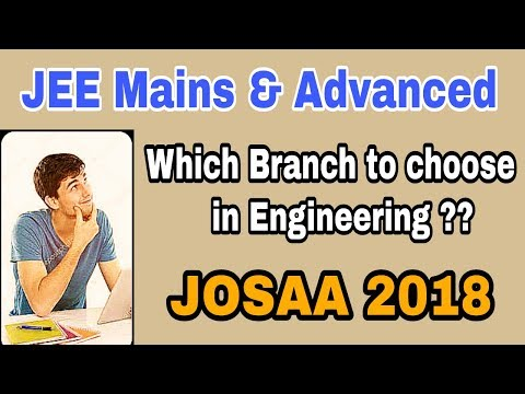 How to select the right Branch in Engineering for you ? | Which Branch & College | JoSAA 2018