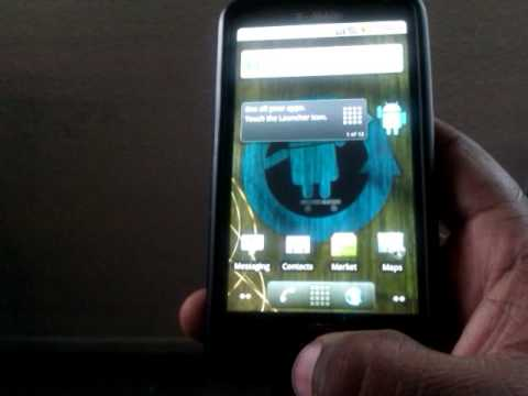 Android running on hd2 + swype working (link for swype in description)
