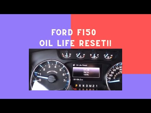 How to Reset the Oil Life Monitoring on a 2011 2014 F150