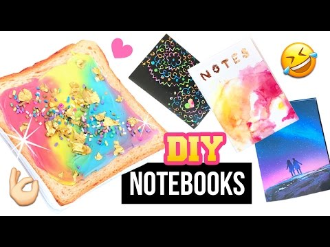DIY Notebooks Inspired By INSTAGRAM!! Unicorn Toast, Galaxy, Rose Gold and MORE!
