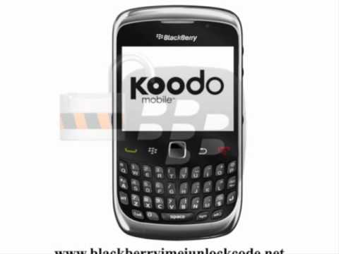 How To Get Koodo Blackberry Curve 9300 MEP / IMEI  / Network Unlock Codes (Canada)