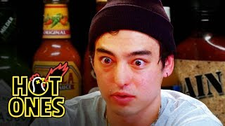 Joji Sets His Face on Fire While Eating Spicy Wings | Hot Ones