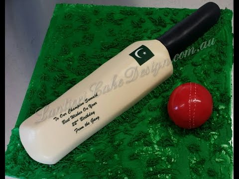 How To Make A Cricket Bat Cake