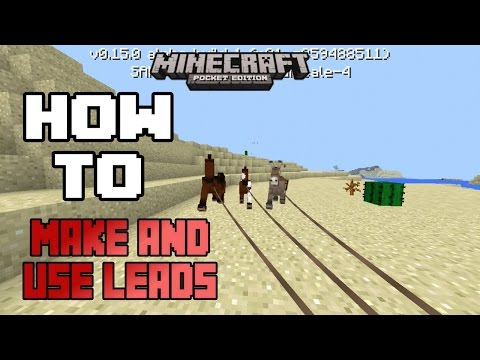 HOW TO MAKE A LEAD AND USE IT IN MCPE 0.15.0 |Minecraft PE (MCPE) How To #31