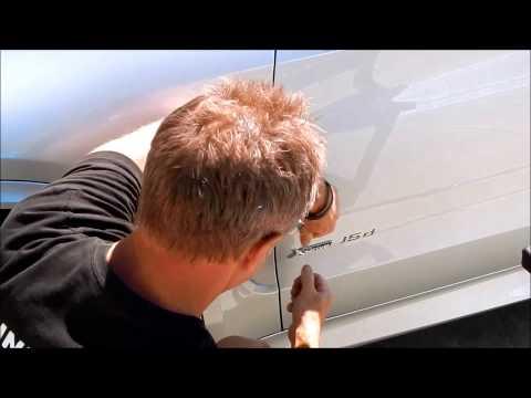 Car Emblem Removal and Install: BMW X5 car badge removal and M badge install