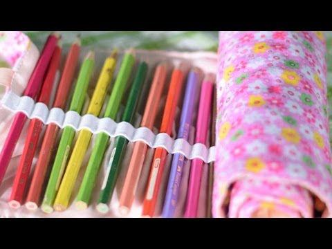 How To Make Your Own Rolled Fabric Pen Holder - DIY Crafts Tutorial - Guidecentral