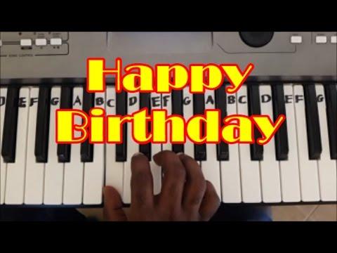 Easy Happy Birthday Keyboard and Piano Tutorial (Right Hand)
