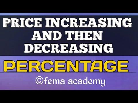 Percentage | Aptitude Problem Shortcuts & Tricks | Price increase,then decrease