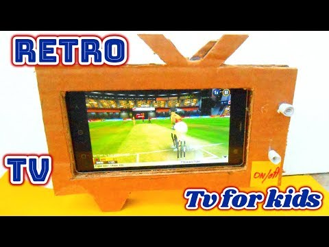 Retro Television With Cardboard | Diy Tv Phone Stand |  Tv for kids