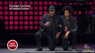 Stevie Wonder, NFL Players Take A Knee In Protest   The View