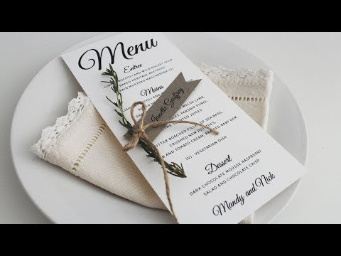 DIY Wedding Tutorial: Rustic Ribbon Style Place Cards + Free Template
