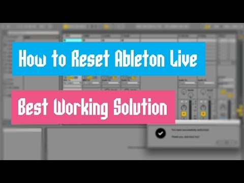 How to Reset Ableton Live Suite   Best Working Solution