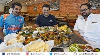 MASSIVE Andhra Food Thali & MUST Eat - MLA Potlam Biryani + KADDU ka Halwa