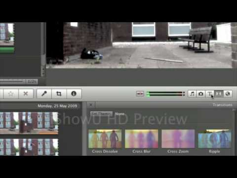 iMovie 09 tutorial - Adding Titles and Transitions