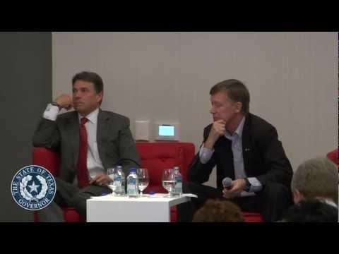 Gov. Perry and Colorado Gov. Hickenlooper Discuss Strategies for Economic Success